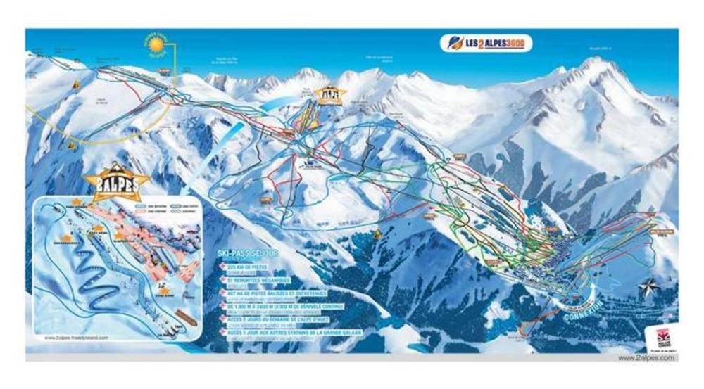 Les Deux Alpes France  city photo : plan des pistes